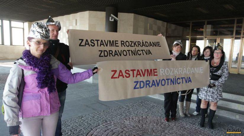 zdravotné sestry, protest