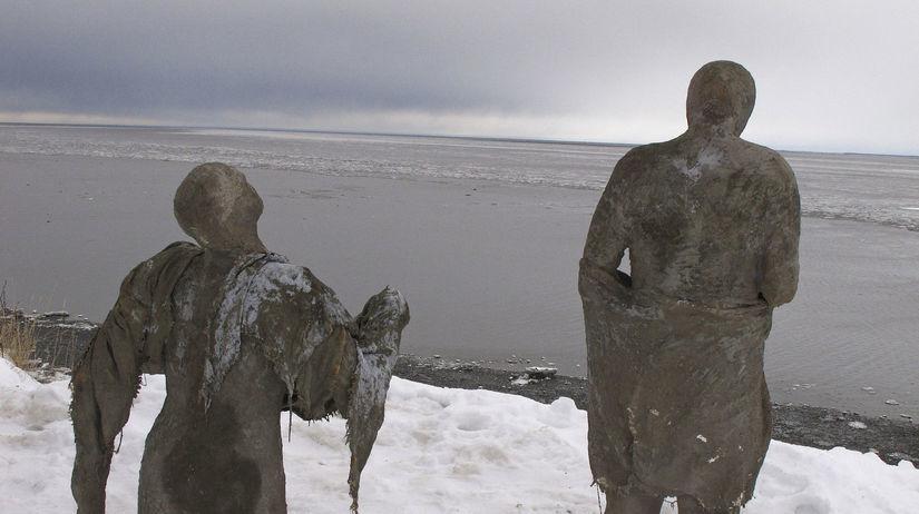 Aljaška, sochy, sneh, zima, 85 sôch predstavuje...