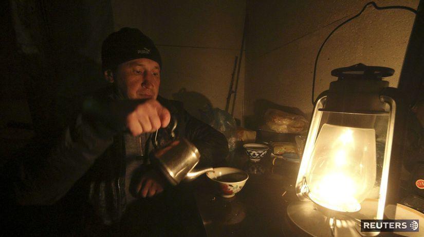 Krym, výpadok elektriny