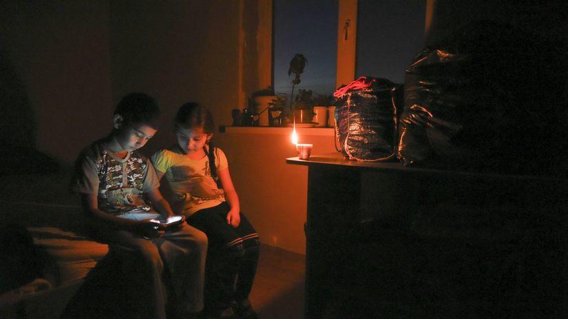 krym, ukrajina, rusko, výpadok elektriny, deti,...