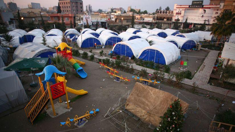 utečencký tábor, Erbil, Irak, Kurdistan