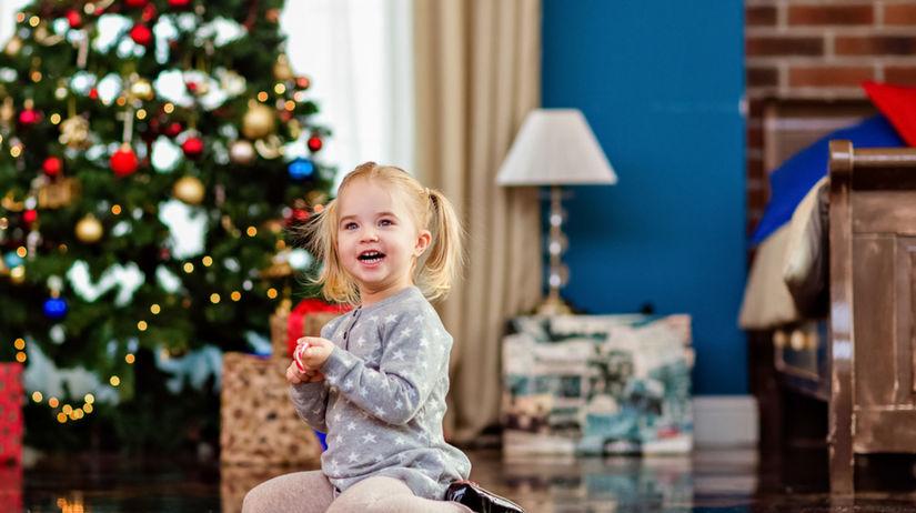 deti, dievčatko, vianoce
