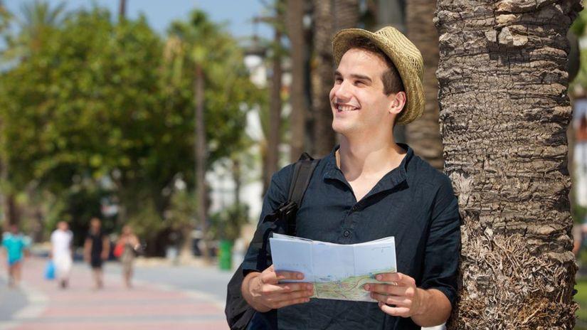 cestovateľ, turista, muž, úsmev, leto, klobúk,...