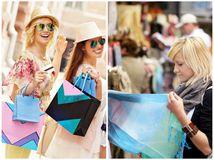 nakupovanie, cestovanie, trh, nákup, tašky, ženy, leto, dovolenka,