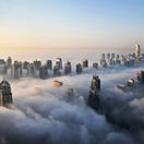 mrakodrapy, mraky, Dubaj, budovy, veže, domy