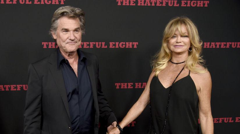 Herec Kurt Russell a jeho partnerka Goldie Hawn.