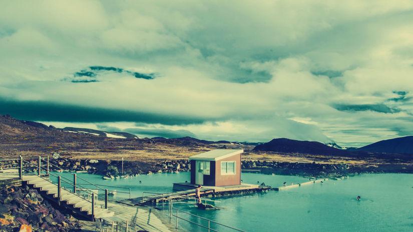 Island, Modrá lagúna, termálne kúpalisko, voda,...