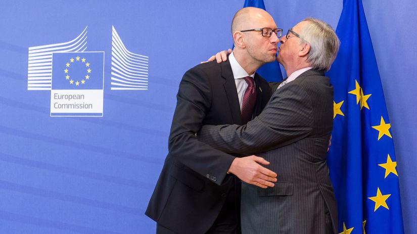Jaceňuk, Juncker