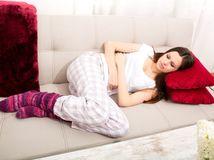 maternica, brucho, menštruácia, bolesť