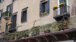 Verona, Taliansko, balkóny, domy,