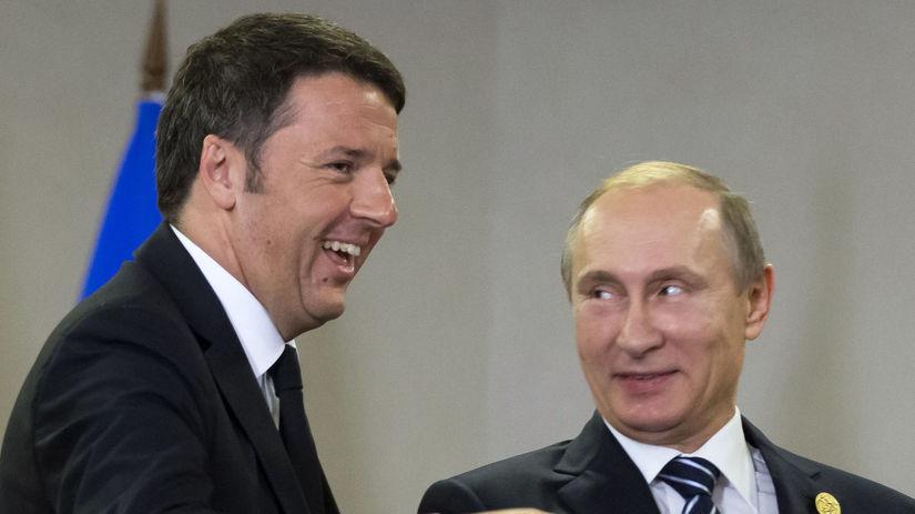 Putin, Matteo Renzi,