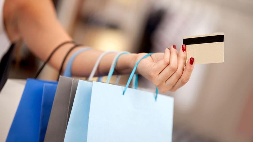 nakupovanie, kreditka, nákupné tašky