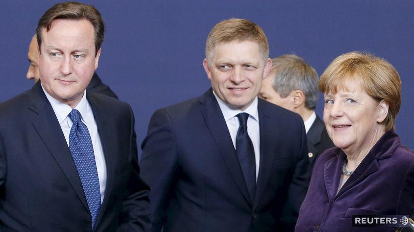 David Cameron, Robert Fico, Angela Merkelová,...