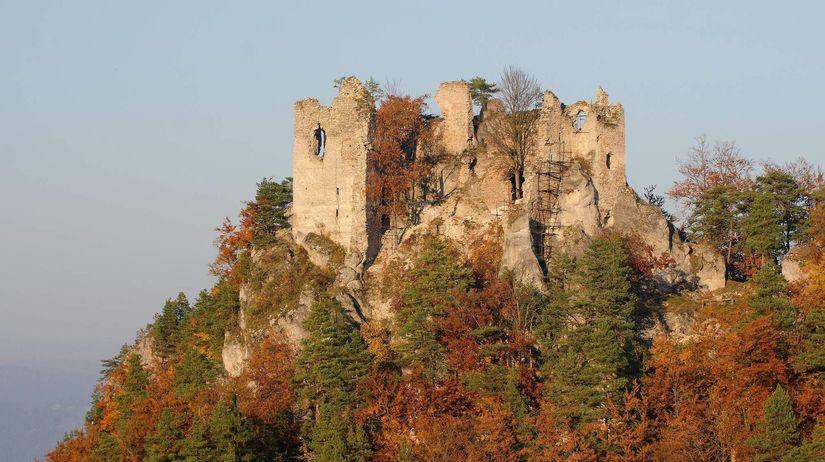 Hričov, hrad, zrúcanina, les