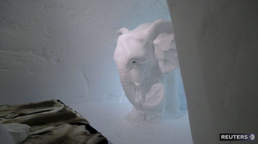 Ľadový hotel, Jukkasjarvi,