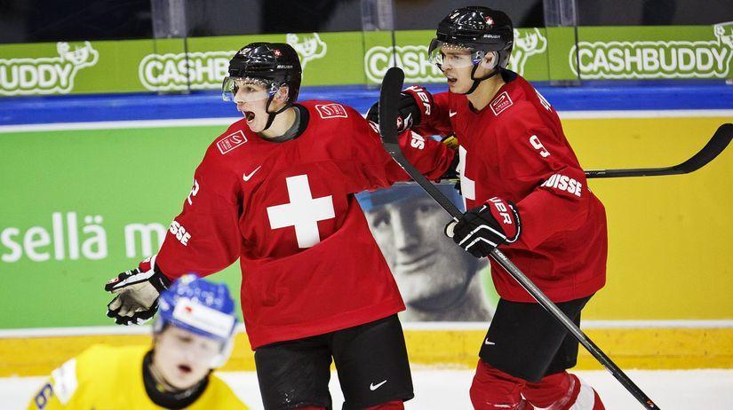 Švajčiarsko, hokejisti, ilustračná foto