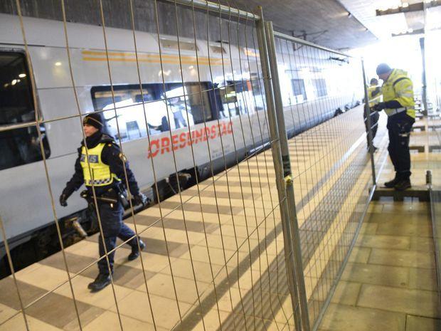 Švédsko, kontorly, hranice, vlak