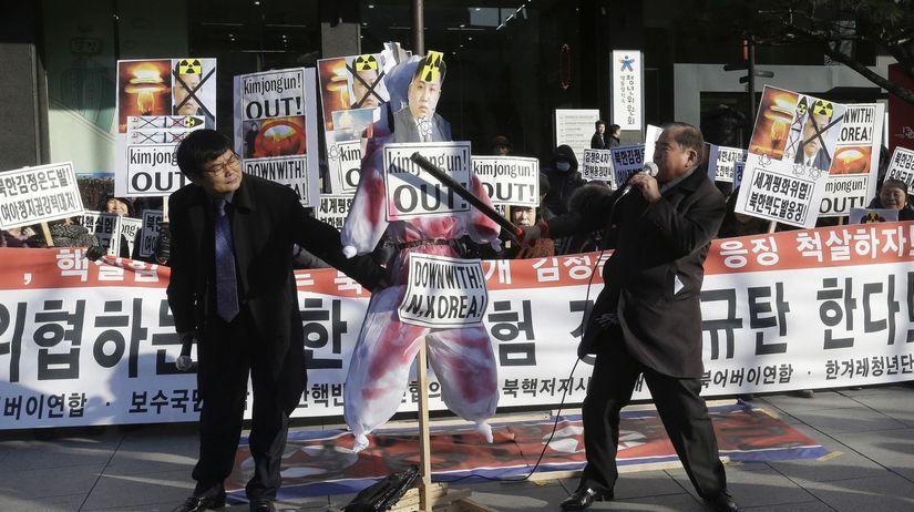 južná kórea, kórea, protest, demonštrácia, test...