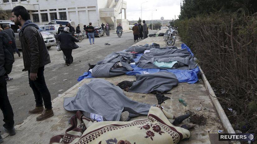 Sýria, obete, nálet