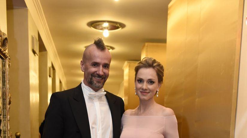 Herečka Monika Hilmerová s manželom Jarom Bekrom.