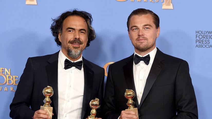 Režisér Alejandro Gonzalez Inarritu a Leonardo...