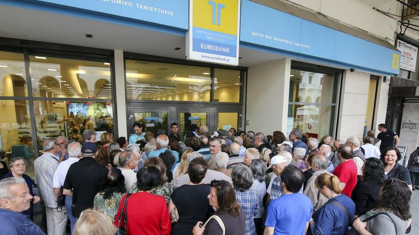 banka, kríza, Grécko