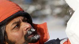 sneh, ľadové sochy, festival snehu, Krasnojarsk, Rusko,