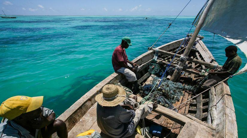 afričania, loď, more