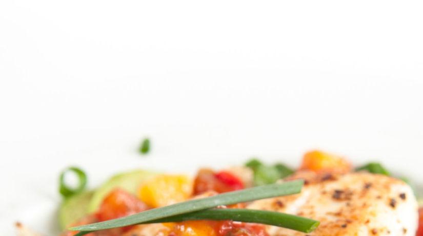 ryba, zelenina, filé, salsa
