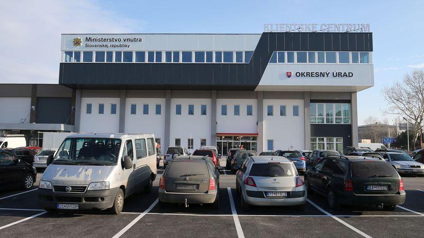 klientske centrum, Tomasikova ulica, Okresny urad,