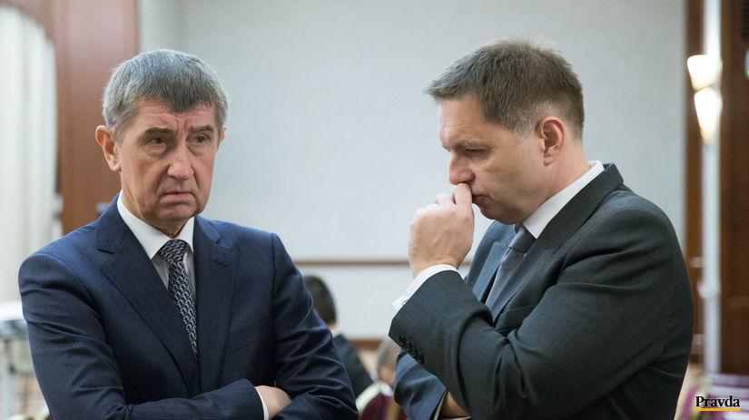 Andrej Babiš, Peter Kažimír