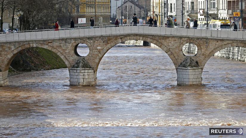 Bosna, Sarajevo, most, rieka