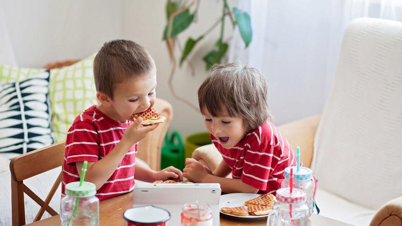 deti, raňajky, potraviny, džem, dieťa