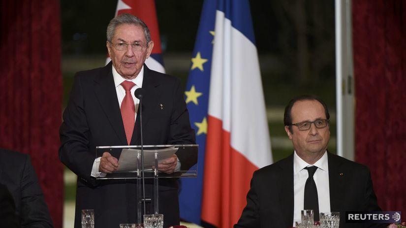 Raúl Castro, François Holland