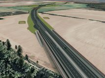 dialnica D4 BA  Jarovce - Ivanka sever  pohlad na krizovatku Ketelec