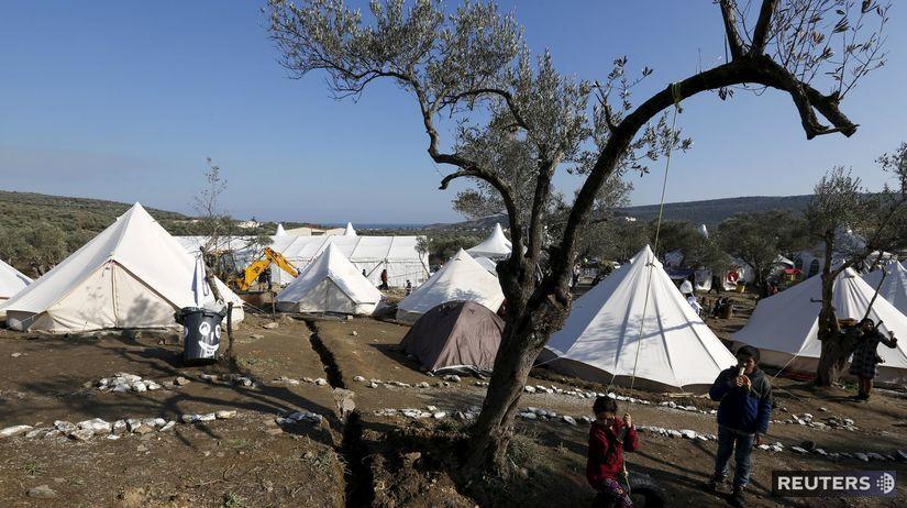 Lesbos, Grécko, migranti