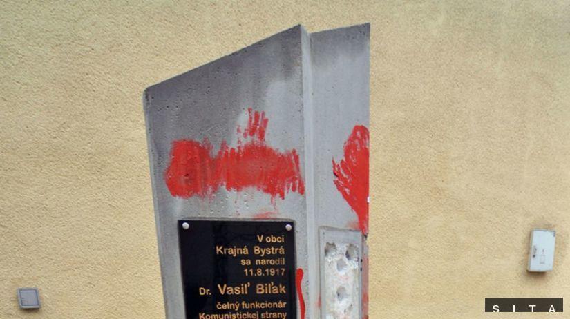 Krajná Bystrá, busta Vasiľa Biľaka