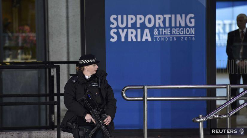 konferencia, Sýria, Londýn, policajtka