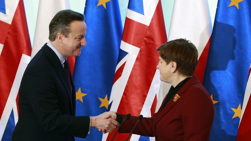 Polsko, Británia, Szydlová, David Cameron