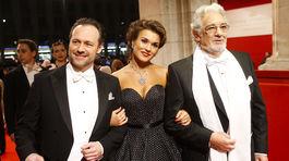 Sascha Goetzel, operná speváčka Olga Peretyatko a operný spevák Placido Domingo