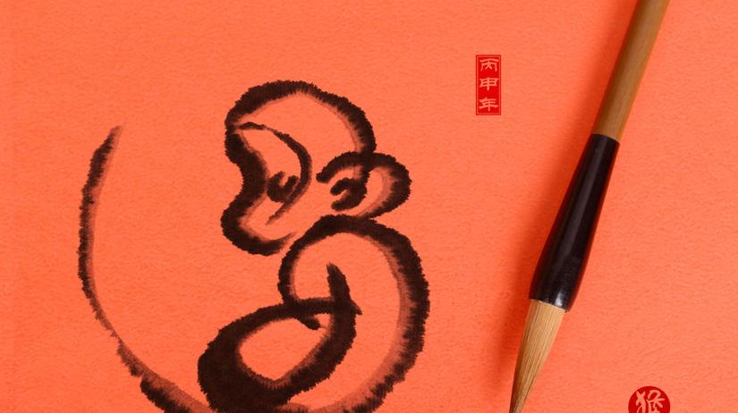 opica - rok - Čína