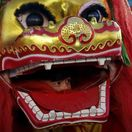 Čína, oslavy nového roka, čínsky lunárny nový rok, draky, masky, lampióny