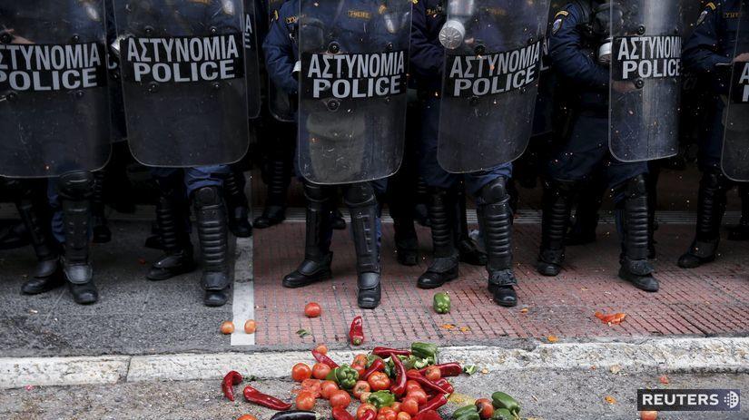 Grécko, protest,