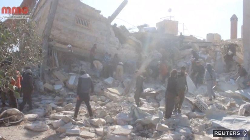 Sýria, Maar an-Numán, nemocnica, lekári bez...