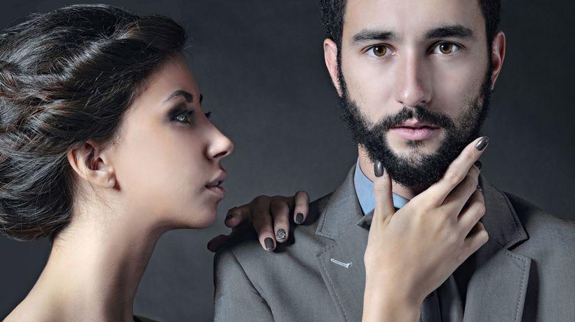 brada, muž, žena, dvojica, pár