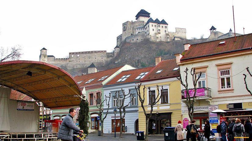 Trenčín, hrad, cyklotrasa