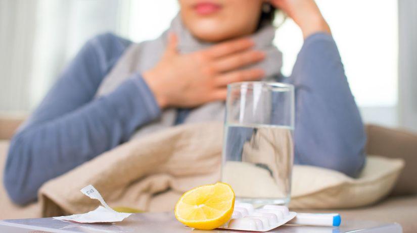 mandle, hrdlo, bolesť, citrón, choroba