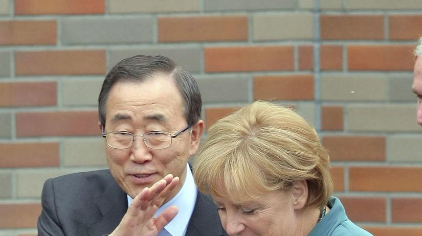 Pan Ki-mun, Angela Merkelová