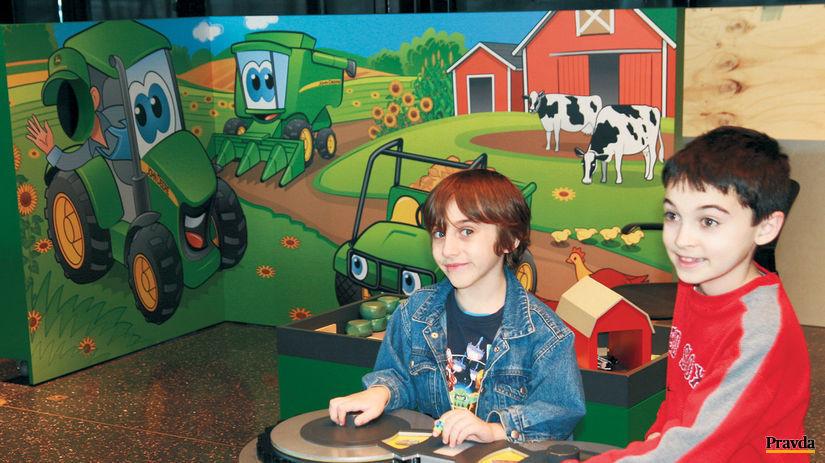 poľnohospodárstvo, deti, roľník, traktor