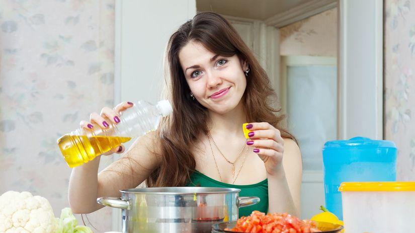 kuchyňa, varenie, olej, zelenina